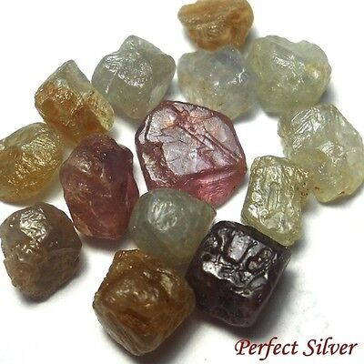 NICE ! 22.3 ct. 20 Pcs. 100% Unheated Natural Rough Fancy Sapphire @ Free ship