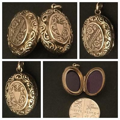 Cutest 'smallest Ever' Antique 9Ct Rose Gold Oval Locket Victorian  Circa 1880