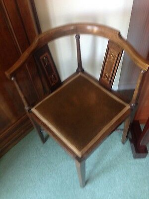 edwardian mahogany corner chair local pick up please