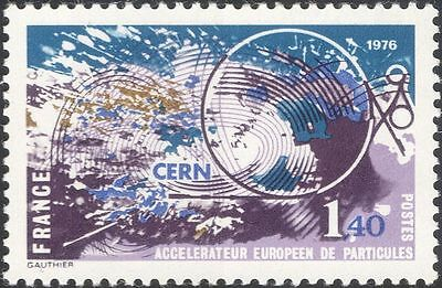 France 1976 CERN/Nuclear Science/Physics/Particle Accelerator 1v (n42466)
