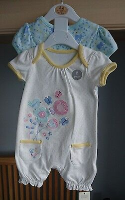 Set of 2 baby girl summer rompers 3-6 months BNWT