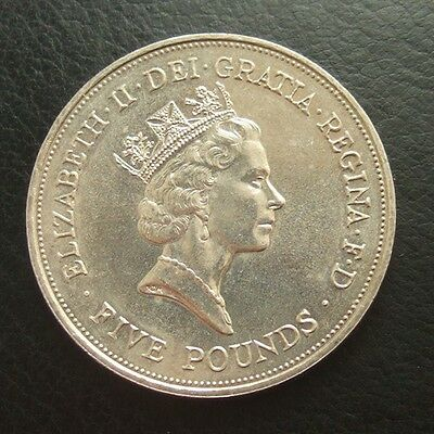 GB £5 FIVE POUNDS COIN 1900 - 1990 : QUEEN MOTHER 90th BIRTHDAY ...t11