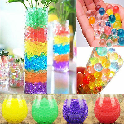 1000Pcs Colorful Water Plant Flower Jelly Crystal Soil Mud Hydro Gel Beads Balls