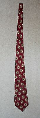 Manchester United Fc - Original Club Neck Tie 1990 - Rare And Collectable