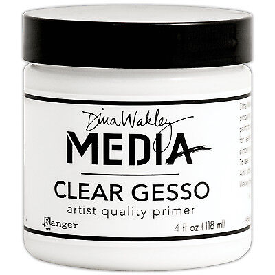 """Dina Wakley Media Clear Gesso 4oz Jar-, Set Of 2"""