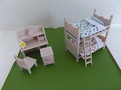 Sylvanian Family Rare Pink Bedroom Set
