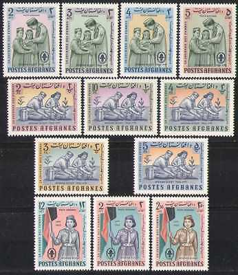 Afghanistan 1964 Scouts/Medical/Plants 12v set (n28205)