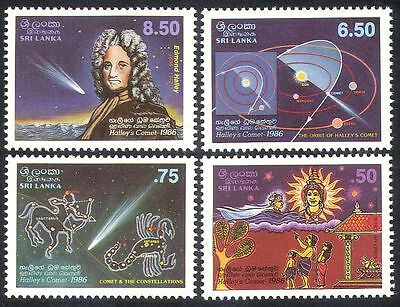 Sri Lanka 1986 Halley's Comet/Space/Astronomy/People/Scientists 4v set (n39893)