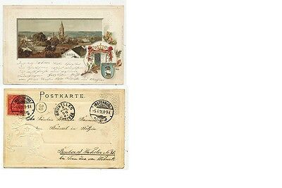 Cpa Pk Ak Allemagne Germany Embossed Litho Insterburg 1901