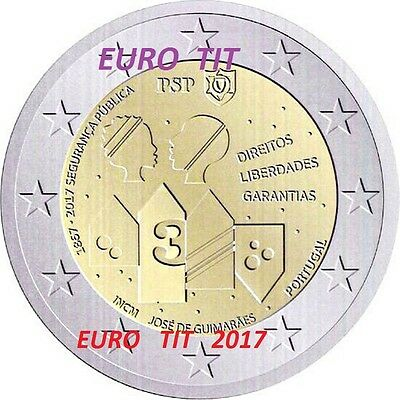 2 €   Portugal Commemorative   2017  1  X  Piece  Securite Publique   2017  2017