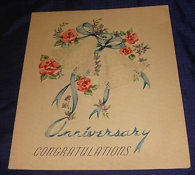 MH180 Vtg Wedding Anniversary Card
