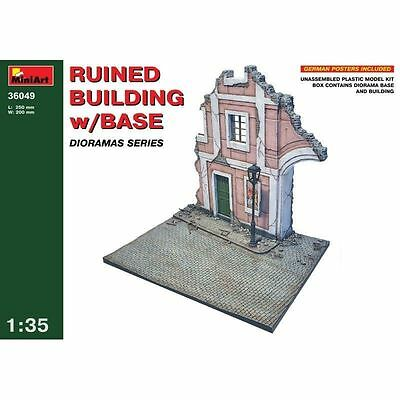 MiniArt Ruins Building Ruined Building w/Base 1:3 5 Kit Set 36049