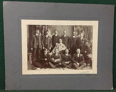 Antique Wedding Photo - 11 Men with Moustaches Smoking Photograph - W. Wilshere