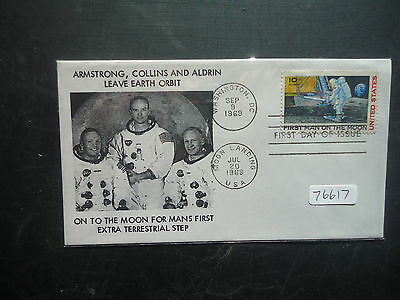 USA 1969 Apollo 11 (On To The Moon) (Duel Cancel) First Day Cover