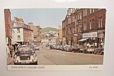 Main Street Campeltown Argyll Scotland Cars Shops People CL.4150 VGC