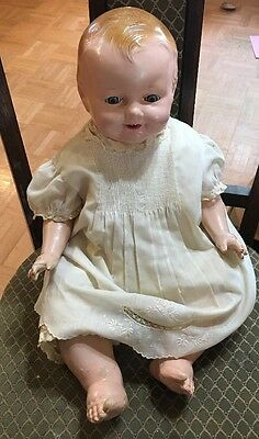 Adorable Large Composition And Cloth Character Baby Doll-redressed