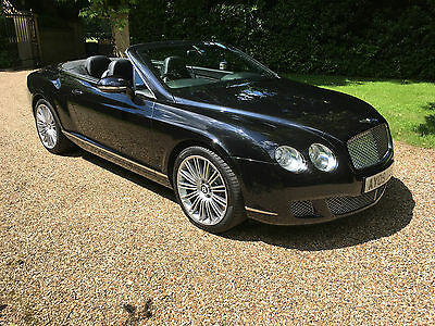 2009 Bentley Continental Gtc Speed Black/black With Only 38K Miles Fbsh