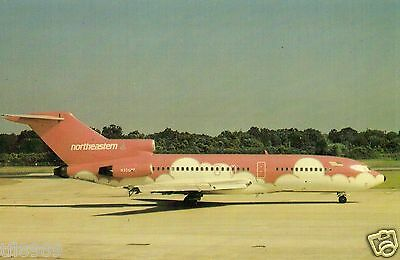 E.a.h. Postcard -  Boeing 727 - N356Qs Of Northeastern In Pink Cloud C/s