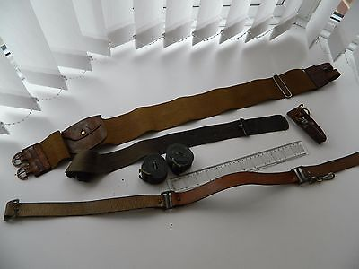WW2 Army/Airforce Belts, webbing and whistle