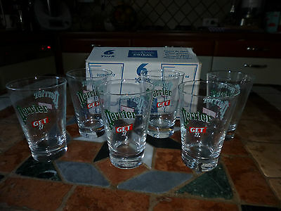 Collector , 6 Verres Perrier Get 27 , 27 Cl , Bar , Bistrot ,