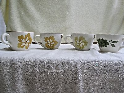 Lot 4 Stangl Pottery Coffee Cups 6 oz.