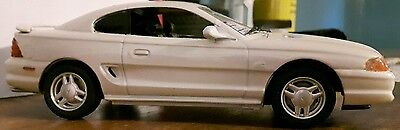 Amt  1994 Ford Mustang GT Car Model Kit,1/25 Scale,FINISHED!Color WHITE LIGHTING