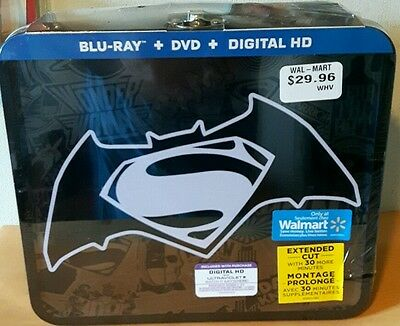 Batman V Superman Dawn of Justice Collectors METAL LUNCHBOX,ONLY ONE IN STOCK!