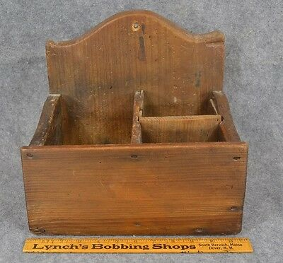 wall box hanging 18th 19th c early  primitive paint antique original 1800