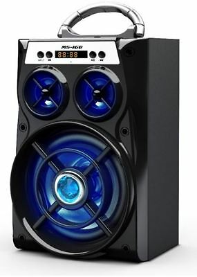 ALTAVOZ PORTATIL MULTIMEDIA  MP3 Recargable USB SD RADIO FM led bluetooth
