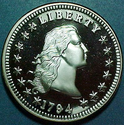 Fantasy Flowing Hair Dollar Tribute Coin - 1794 - Private Mint - Novelty