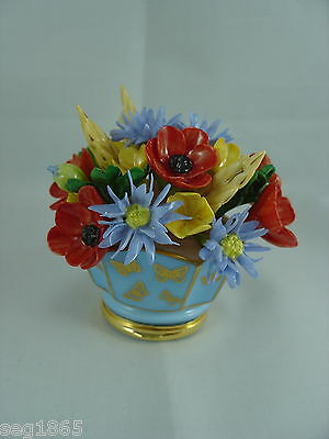 Halcyon Days Enamels - Flower Vase / Box Flowers Of The Field