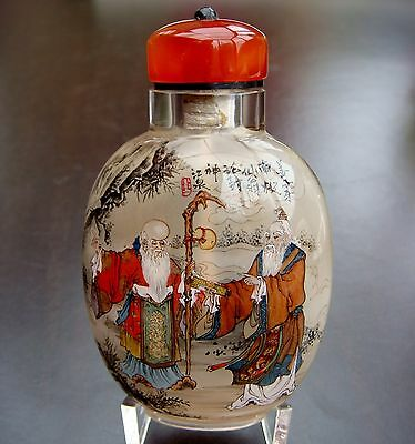 Snuff Bottle, Snuffbottle, Masterpiece, Die vier Weisen, Adler, China, Feng Shui