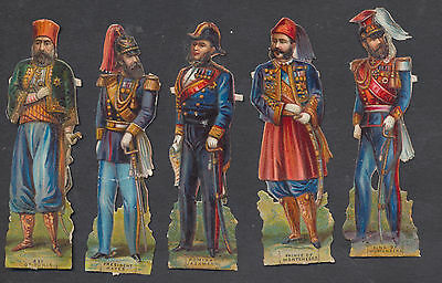 S5102 Victorian Die Cut Scraps: 5 Leaders in Uniform