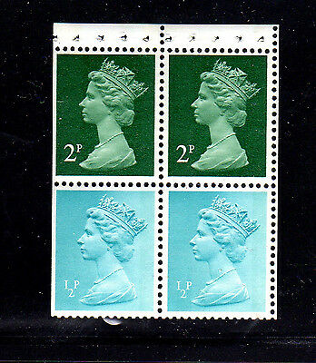 GREAT BRITAIN #MH26a  B/P OF 4 (CONTAINS 2-1/2p,2-2p)  MINT  VF NH  O.G