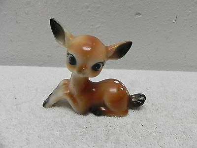 """L@@k!  Vtg HARD PLASTIC FAWN: 1950s (?) 3-1/2"""" x 2-3/4"""" tall CELLULOID? LUCITE?"""