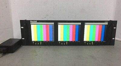 """Marshall V-R563P Triple Screen 3x 5.6 inch LCD Preview Video Monitor W/PS """"A"""""""