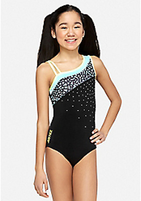 NWT Justice for Girls Asymmetrical Sparkle Leotard Size 7