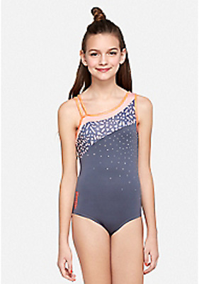 NWT Justice for Girls Asymmetrical Sparkle Leotard Size 10