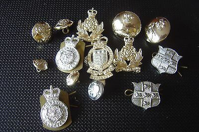 British Army Badges Intelligence Corp x 2 Yorkshire Vols x 2 Modern + Buttons