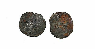 9177 Chach AE coin,Unknown ruler. 7th-8th century AD.