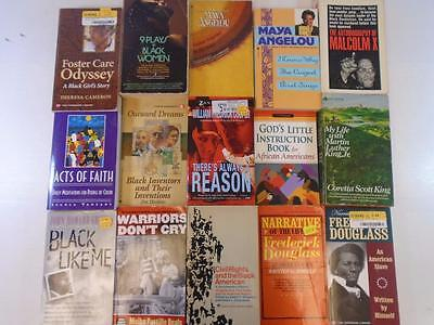 25 African American Black Like Me Maya Angelou Malcolm X To Be a Slave pb lot