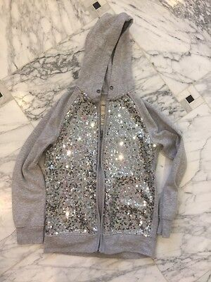 Girl's Cherokee Gray Sequined Hoodie- Size Large 10-12