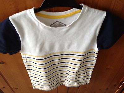 Boys Striped T-Shirt Age 7 Years