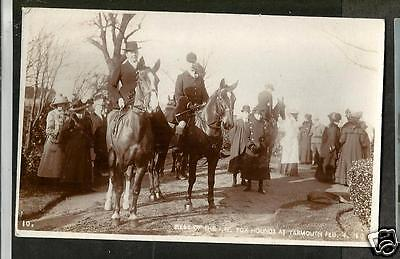 HNC Early Broderick Postcard, Isle of Wight Foxhounds at Yarmouth 1909 (?)