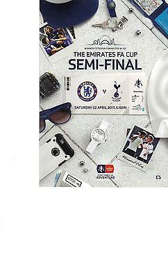 PROGRAMME - CHELSEA v TOTTENHAM HOTSPUR (SPURS) FA CUP SEMI-FINAL -22 APRIL 2017