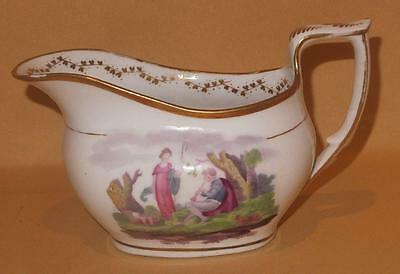 New Hall Piping Shepherd & Shepherdess Jug Pattern 984 C1815-15