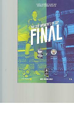 PROGRAMME - BIRMINGHAM v MANCHESTER CITY - WOMEN'S FA CUP FINAL - 13 MAY 2017