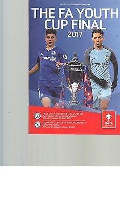 JOINT PROG - MANCHESTER CITY v CHELSEA - FA YOUTH CUP FINAL - 18 & 26 APRIL 2017