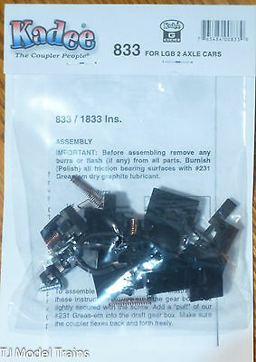 Kadee #833 Knuckle Couplers -- Truck-Mounted For LGB Two-Axle Cars 1 Pair