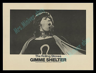 GIMME SHELTER 1970 19x14 inch Original Movie Poster - THE ROLLING STONES BEST!!!